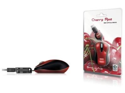 SWEEX Mini Optical Mouse USB Cherry Red